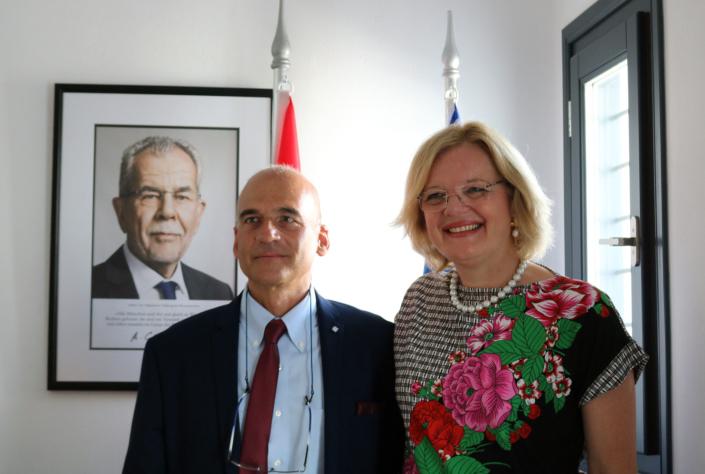 Ambassador of Austria & Ioannis Andreopoulos